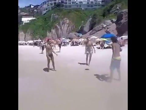 Most talented dog - beach soccer