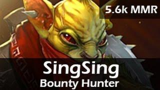 782: SingSing as Bounty Hunter Roam(R) ft. Fwosh, Akroma, m3wk - 5.6k MMR Ranked DOTA 2 Gameplay VOD