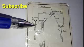 How To Read Outdoor Schematic Wiring Diagram Combined Capaciter In Urdu/Hindi