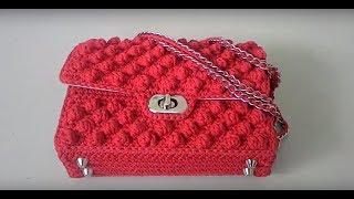 Как связать крючком сумку в стиле Шанель. Часть 2