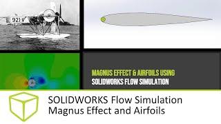 SOLIDWORKS Flow Simulation Magnus Effect and Airfoils