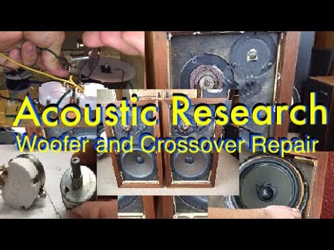 Acoustic Research AR3 Speaker Crossover Repair and Woofer Refoam!