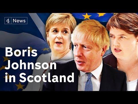 Boris Johnson in Scotland as pound falls amid No Deal Brexit fears