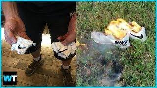 Some People Are BURNING Their Nike Products To Protest Colin Kaepernick Ad