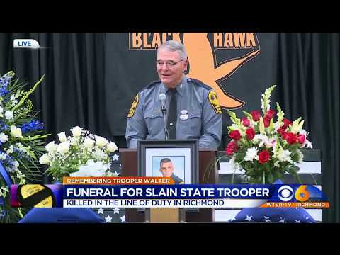 Memorial Service for Virginia State Police Special Agent Mike Walter
