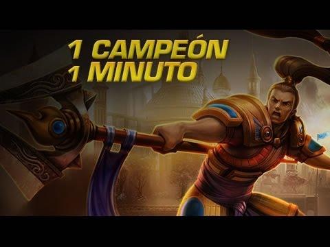 Xin Zhao - 1 CAMPEÓN EN 1 MINUTO - League of Legends Express