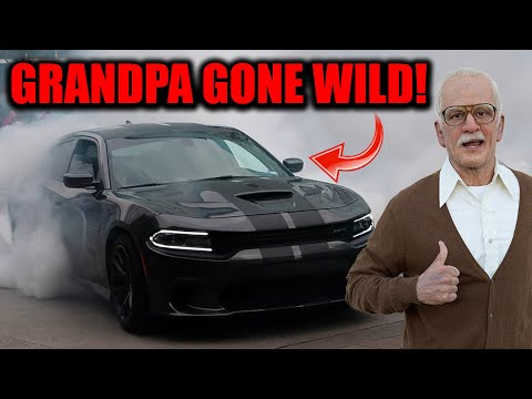 GRANDPA DO A BURN OUT!!! | Cars LEAVING Houston Cars and Coffee March 2017