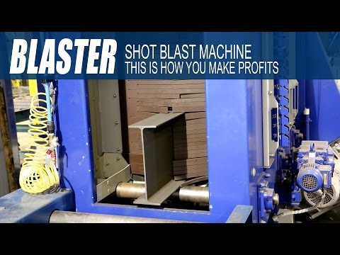 Ocean BLASTER Shot Blast Machine Is Perfect For ALL Steel Fabricators - This Is How You Make Profits