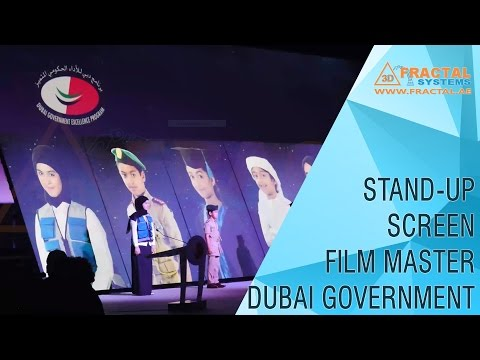 Rocking Stand-Up Screens - FilmMaster - Dubai Govt Excellence Program