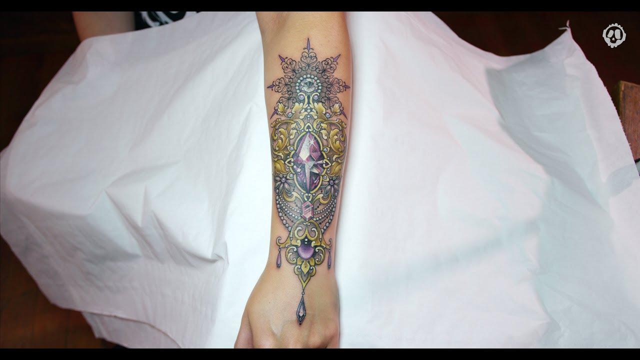 Jenna Kerr - Tattoo Timelapse | Ornamental Crystals & Gemstones