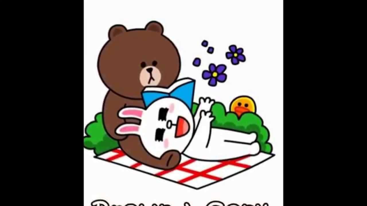 Line, Sticker, Brown, Cony, 0811355944 - YouTube