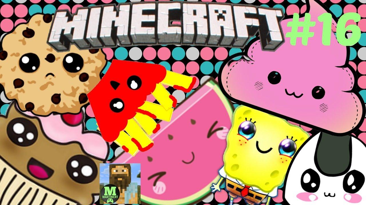 Kawaii Pixel Art Wall 16 Fruit Minecraft Jokes
