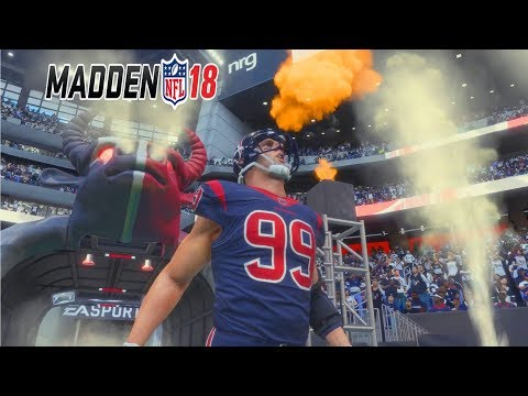 Madden 18 Gameplay Full Game - DESHAUN WATSON vs MITCHELL TRUBISKY