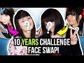 10 YEARS FACE SWAP Challenge 🔄wir tauschen unsere Looks aus 2009! 😂