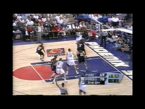 1999 Playoffs Portland@Phoenix Game 3 HIGHLIGHTS