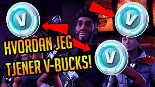 HVORDAN JEG TJENER V-BUCKS *GRATIS V-BUCKS* | Dansk | Fortnite: Save the World