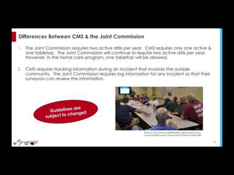 Joint Commission vs. CMS Emergency Preparedness Guidelines