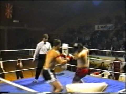 Kick box duel Macedonia   Greece 1994 - Zoran Petkovski