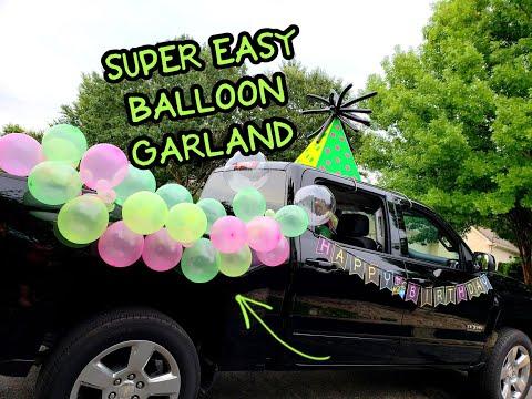 Super Easy Balloon Garland Tutorial - Birthday Party Or Car Parade Idea