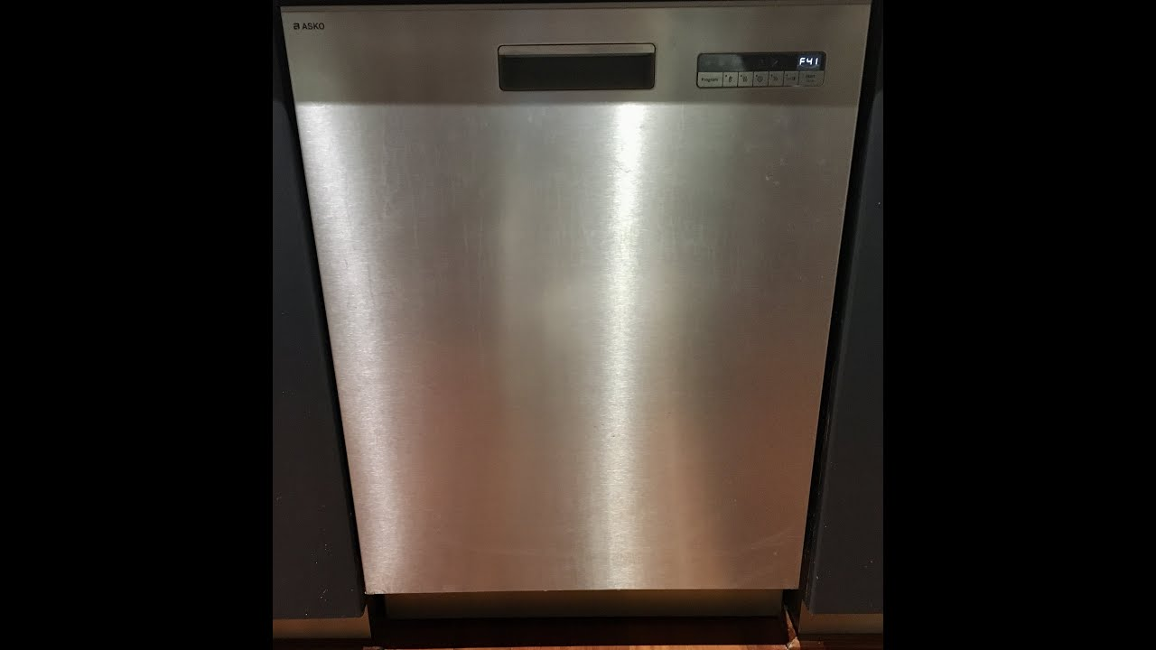 How To Reset Asko Dishwasher F10