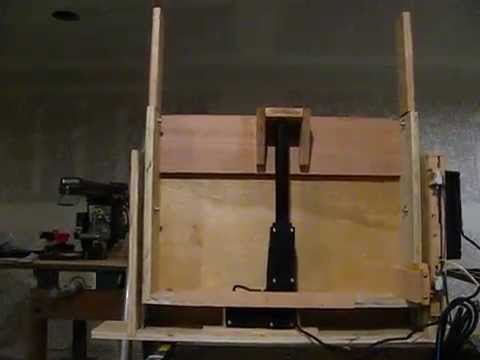 Pop up tv lift mechanism with remote control.