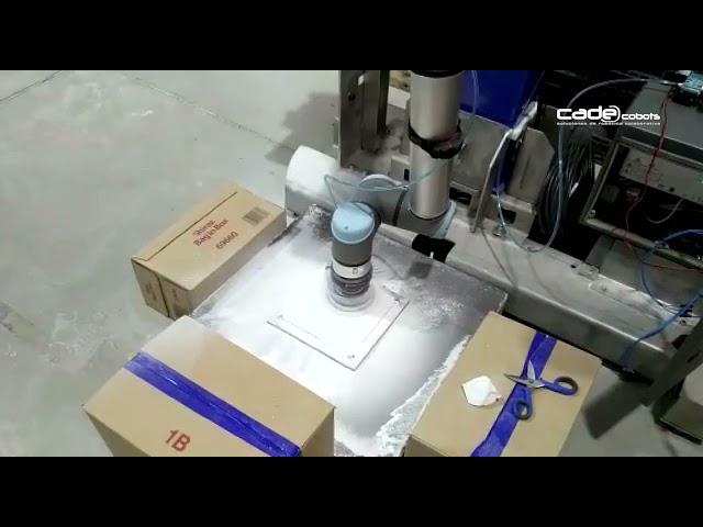 Lijado con robot colaborativo