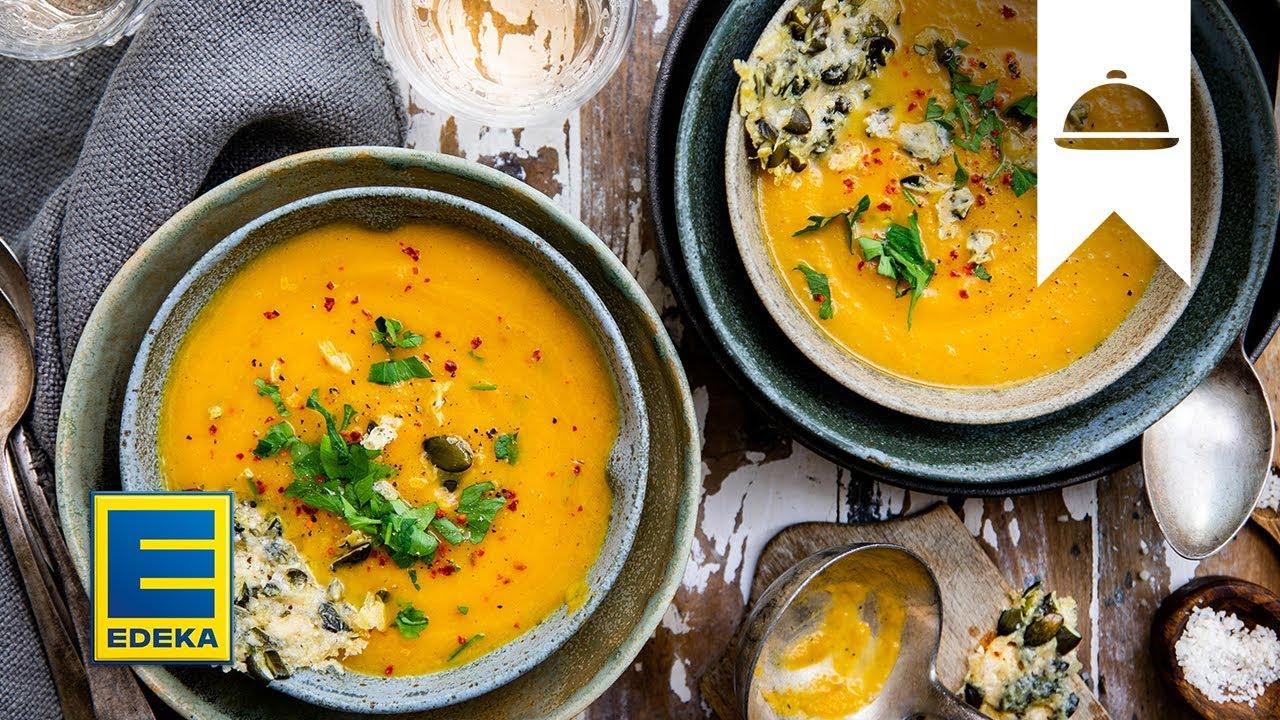 Kürbissuppe Rezept Herbstliche Suppe Mit Birnen Edeka Youtube
