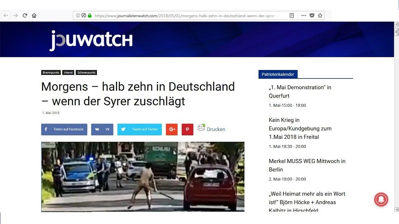 Morgens Halb Zehn In Deutschland Wenn Der Migrant Zuschlägt