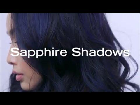 Sapphire Shadows   Blue Black Hair Color Transformation by Brooke Landry