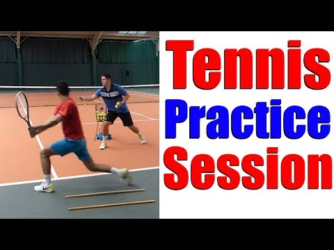Tennis Practice - Drills & Hitting Session with Top Tennis Training