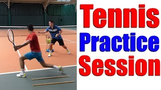 Video Tennis Practice - Drills & Hitting Session with Top Tennis Training download MP3, 3GP, MP4, WEBM, AVI, FLV Juni 2018