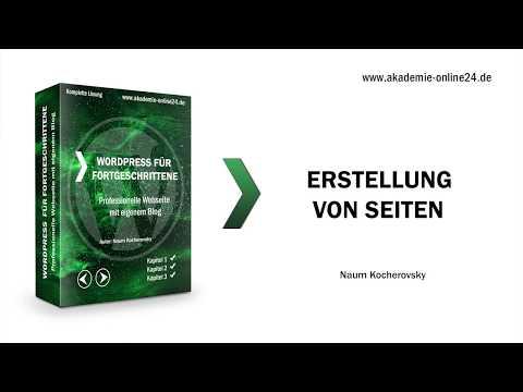 Thema - Erstellung von Seiten - WordPress Kurs für Fortgeschrittene – Akademie Online24
