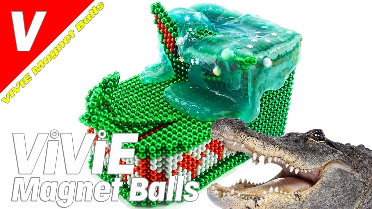 Build Crocodile Head Magnetic Balls, ASMR Magnet Balls, Magnet World, Magnetic Game, Magnetic Balls