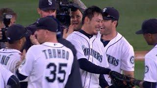 BAL@SEA: Iwakuma pitches a no-hitter vs. Orioles