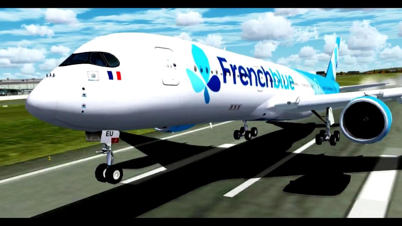 Airbus A350 Landing St  Maarten - (FREEWARE PLANE Download) - Flight