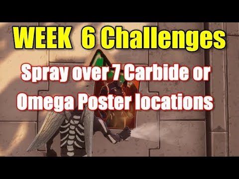 Fortinite - Spray 7 Carbide Or Omega Posters Locations Guide (week 6)