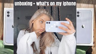 iphone 11 unboxing + whats on my iPhone!