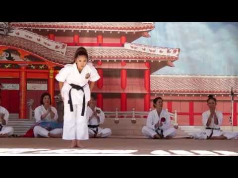 Okinawan Festival 2014 Women in Karate in Hawaii Demonstration