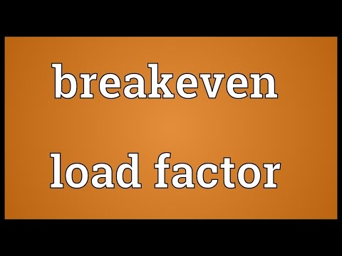 Breakeven load factor Meaning