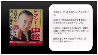 ドクター中松氏 末期がん公表.