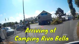 Arriving at Riva Bella Campsite - Ouistreham - Normandy France