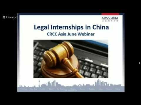 2015 Europe Webinar Series: Legal Internships in China