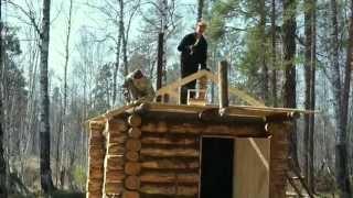 строим баню в тайге