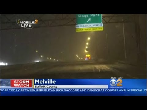 Drivers Facing Windy Conditions, Snow