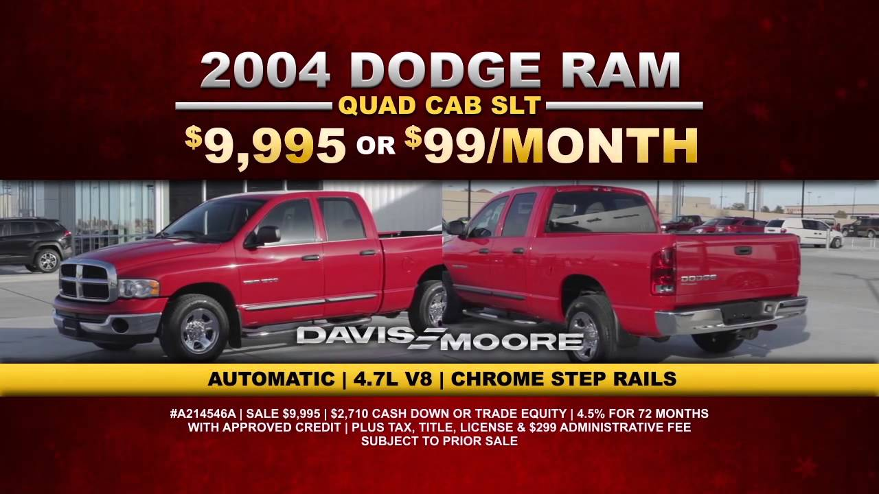 Davis Moore Dodge >> Stuff The Stockings At Davis Moore Chrysler Dodge Jeep Ram Pre Owned