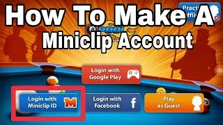 How To Create A 8 Ball Pool Miniclip Account For Andorid Device [hindi/urdu]
