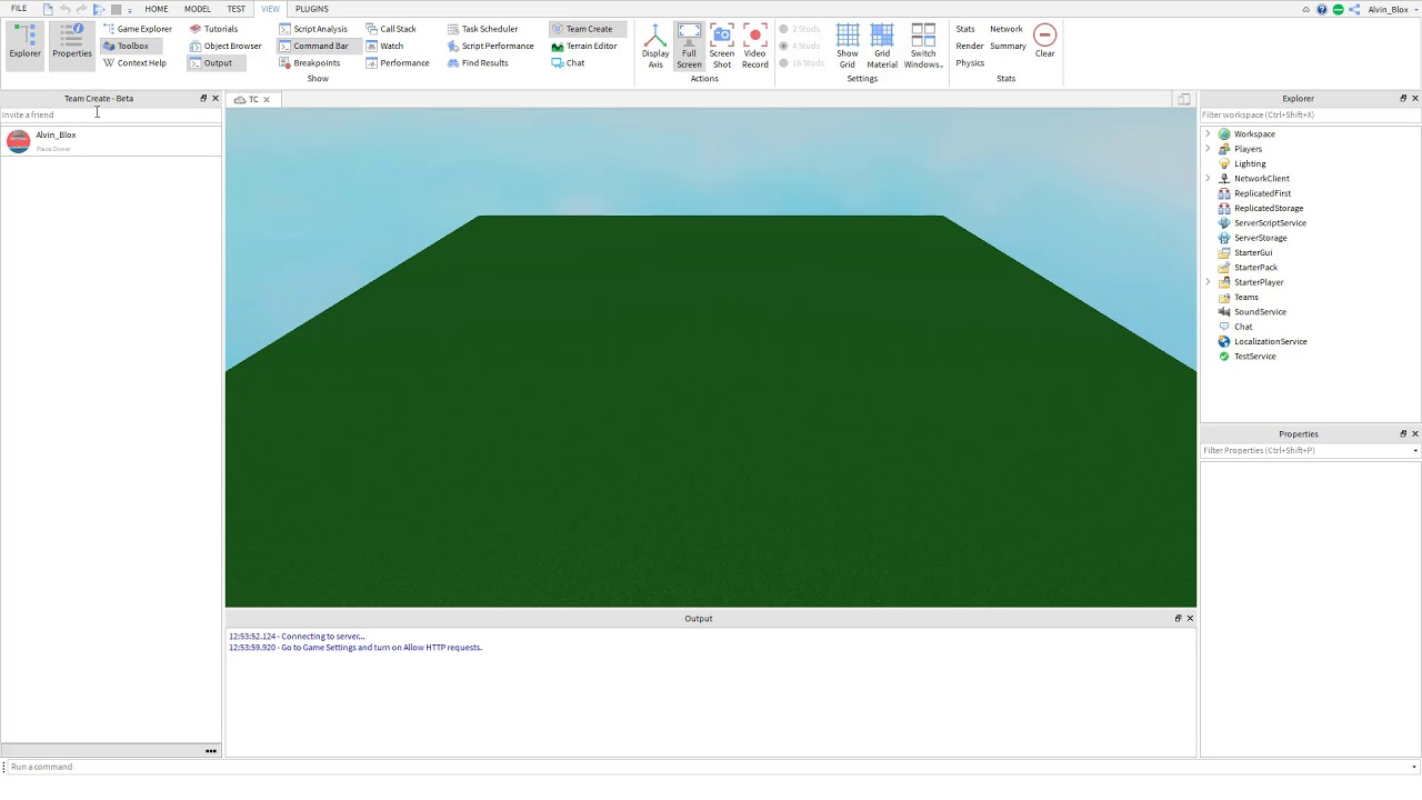 Roblox Team Create Tutorial Invite Others To Work In Real Time