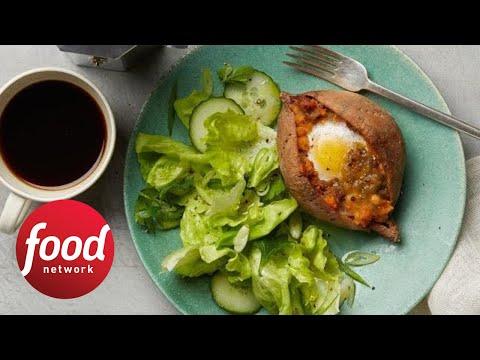 Whole30 Breakfast Twice-Baked Sweet Potatoes   Food Network
