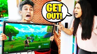 Angry Mom KICKS Me Out of the House for Playing Fortnite!