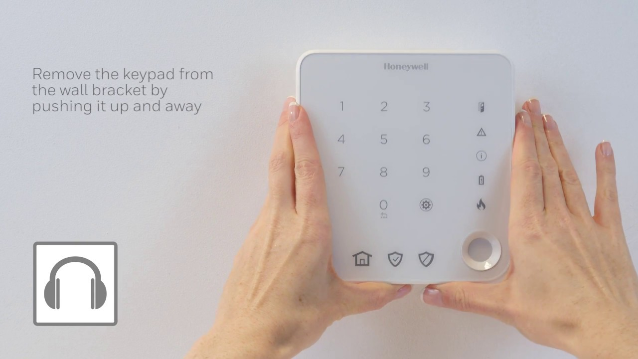 Replacing the batteries on the keypad | Alarms | Honeywell